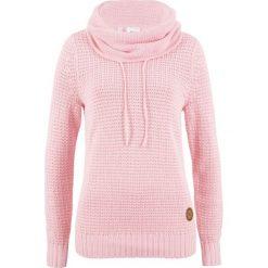 Sweter bonprix pastelowy jasnoróżowy. Czerwone swetry damskie bonprix. Za 89.99 zł.