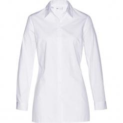 Długa  bluzka bonprix biały. Białe bluzki damskie bonprix, z długim rękawem. Za 69.99 zł.