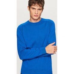 Gładki sweter - Niebieski. Niebieskie kardigany damskie Reserved. Za 79.99 zł.
