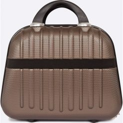 VIP COLLECTION - Walizka 12 L. Brązowe walizki męskie VIP COLLECTION, z materiału. W wyprzedaży za 119.90 zł.