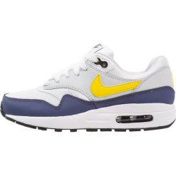 Nike Sportswear AIR MAX 1 Tenisówki i Trampki white/tour yellow/blue recall. Buty sportowe chłopięce Nike Sportswear, z gumy. Za 419.00 zł.