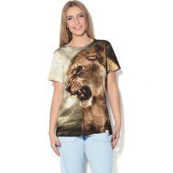 Colour Pleasure Koszulka CP-030  93 szaro-zielono-brązowa r. XL/XXL. T-shirty damskie Colour Pleasure. Za 70.35 zł.
