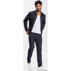 Dżinsowa kurtka - Regular fit - w kolorze granatowym. Niebieskie kurtki męskie Cross Jeans, z denimu. W wyprzedaży za 136.95 zł.