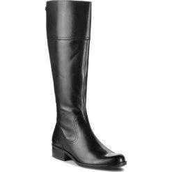 Oficerki CAPRICE - 9-25522-21 Black Nappa 022. Czarne kozaki damskie Caprice, z materiału. W wyprzedaży za 409.00 zł.