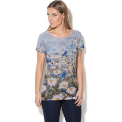 Colour Pleasure Koszulka CP-034  54 niebiesko-biało-zielona r. XS-S. T-shirty damskie Colour Pleasure. Za 70.35 zł.