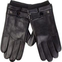 Rękawiczki Męskie WITTCHEN - 39-6-704-1-L Czarny. Czarne rękawiczki męskie Wittchen, ze skóry. W wyprzedaży za 199.00 zł.