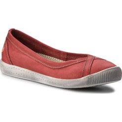 Półbuty SOFTINOS - Ilma P900179548 Washed Red. Czerwone półbuty damskie Softinos, z materiału. W wyprzedaży za 239.00 zł.