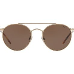 Polo Ralph Lauren - Okulary PH3114. Szare okulary przeciwsłoneczne męskie Polo Ralph Lauren, z materiału. Za 649.90 zł.