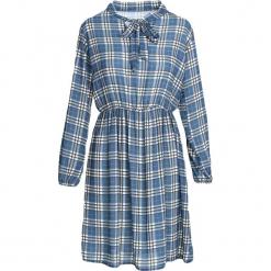 Niebieska Sukienka Don't Bring Me Down. Niebieskie sukienki damskie Born2be, z koszulowym kołnierzykiem. Za 59.99 zł.