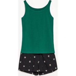 Piżama z szortami - Zielony. Zielone piżamy damskie Reserved. W wyprzedaży za 39.99 zł.