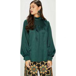 Answear - Bluzka Heritage. Szare bluzki damskie ANSWEAR, z elastanu, casualowe, ze stójką. W wyprzedaży za 99.90 zł.