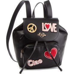 Plecak LOVE MOSCHINO - JC4082PP17LJ0000 Nero. Czarne plecaki damskie Love Moschino, ze skóry ekologicznej. Za 959.00 zł.