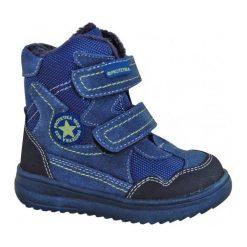 Protetika Buty Zimowe Za Kostkę Chłopięce Riki 20 Niebieski. Niebieskie buty zimowe chłopięce Protetika, z futra. Za 175.00 zł.