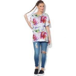 Colour Pleasure Koszulka CP-033  157 biało-różowa r. uniwersalny. Bluzki damskie marki Colour Pleasure. Za 76.57 zł.
