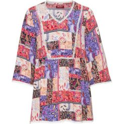 Długa tunika z nadrukiem, rękawy 3/4 bonprix kolorowy wzorzysty. Tuniki damskie marki bonprix. Za 79.99 zł.