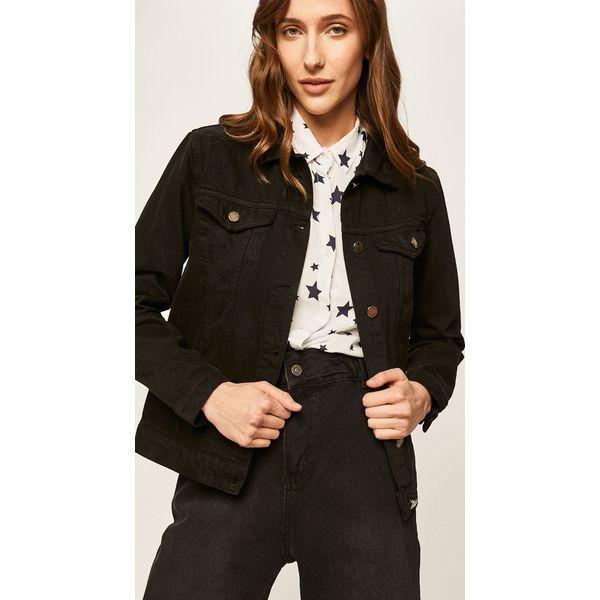 kurtki jeansowe czarne wyprzedaż