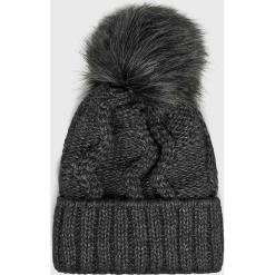 Answear - Czapka. Czarne czapki i kapelusze damskie ANSWEAR, z dzianiny. Za 49.90 zł.