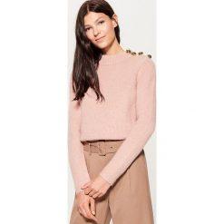 Sweter z domieszką wełny - Różowy. Czerwone swetry damskie Mohito, z wełny. Za 129.99 zł.