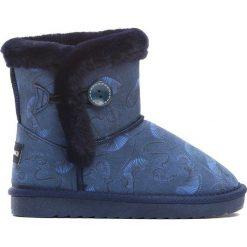 Granatowe Śniegowce Stormily. Niebieskie buty zimowe dziewczęce Born2be, z materiału. Za 79.99 zł.