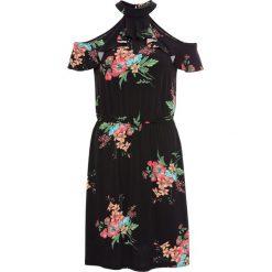 Sukienka z dżerseju z kwiatowym nadrukiem bonprix czarny w kwiaty. Czarne sukienki damskie bonprix, na lato, w kwiaty, z dżerseju. Za 109.99 zł.