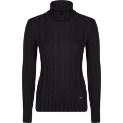 Sweter w kolorze czarnym. Czarne swetry damskie Giorgio di Mare, z dzianiny, ze stójką. W wyprzedaży za 152.95 zł.