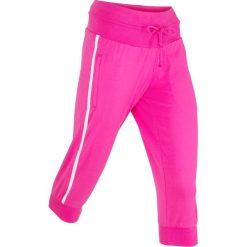 Spodnie sportowe 3/4, Level 1 bonprix różowa magnolia. Spodnie dresowe damskie marki bonprix. Za 59.99 zł.