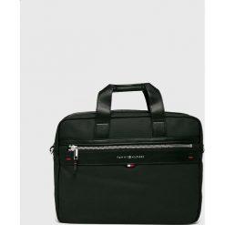 Tommy Hilfiger - Torba. Czarne torby na laptopa męskie Tommy Hilfiger, w paski, z bawełny. Za 539.90 zł.