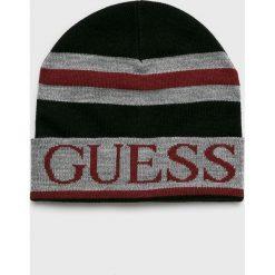 Guess Jeans - Czapka. Szare czapki i kapelusze męskie Guess Jeans. Za 139.90 zł.