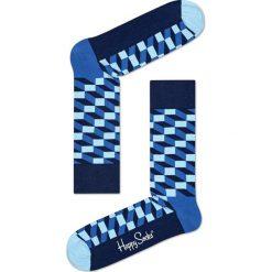 Happy Socks - Skarpetki Filled Optic. Niebieskie skarpety damskie Happy Socks. W wyprzedaży za 29.90 zł.