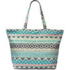 Torebka bonprix turkusowo-kolorowy. Niebieskie torebki shopper damskie bonprix, w kolorowe wzory. Za 79.99 zł.