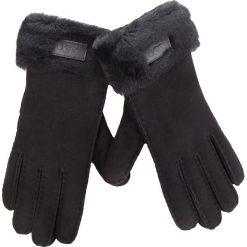 Rękawiczki Damskie UGG - W Turn Cuff Glove 17369 Black. Czarne rękawiczki damskie UGG, ze skóry. Za 639.00 zł.