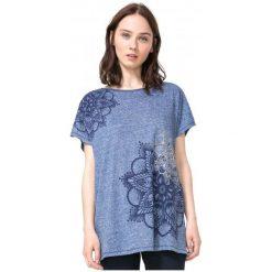 Desigual T-Shirt Damski Xs Niebieski. Niebieskie t-shirty damskie Desigual. W wyprzedaży za 129.00 zł.
