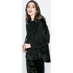 Dkny - Bluza piżamowa. Czarne piżamy damskie DKNY, z dzianiny. W wyprzedaży za 199.90 zł.