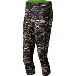 """Spodnie sportowe """"Impact"""" w kolorze czarnym ze wzorem. Czarne spodnie sportowe damskie New Balance, z materiału. W wyprzedaży za 142.95 zł."""