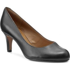 Półbuty CLARKS - Arista Abe 261043674 Black Leather. Czarne półbuty damskie Clarks, ze skóry ekologicznej. W wyprzedaży za 219.00 zł.