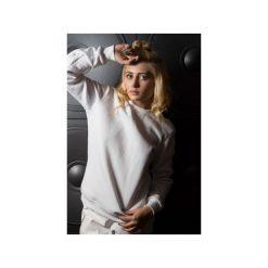 Bluza – Geometric Neckline. Białe bluzy damskie Agnieszka martini, z aplikacjami, z bawełny. Za 160.65 zł.