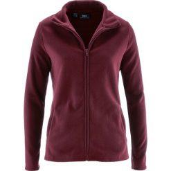 Bluza rozpinana z polaru z wpuszczanymi kieszeniami bonprix czerwony klonowy. Czerwone bluzy damskie bonprix, z polaru. Za 37.99 zł.