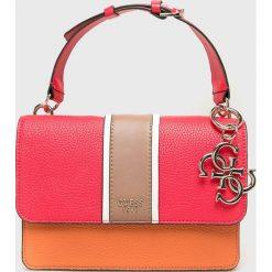 Guess Jeans - Torebka. Różowe torby na ramię damskie Guess Jeans. Za 559.90 zł.