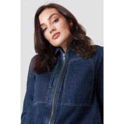 NA-KD Trend Krótka kurtka jeansowa - Blue. Niebieskie kurtki damskie NA-KD Trend, z bawełny. Za 283.95 zł.