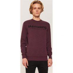 Bluza z napisem - Fioletowy. Fioletowe bluzy męskie House, z napisami. Za 79.99 zł.