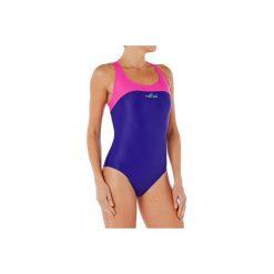 Strój jednoczęściowy pływacki Leony damski. Niebieskie kostiumy jednoczęściowe damskie NABAIJI. Za 39.99 zł.