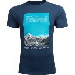 T-shirt męski TSM627 - denim - Outhorn. Szare t-shirty męskie Outhorn, na jesień, z denimu. Za 39.99 zł.