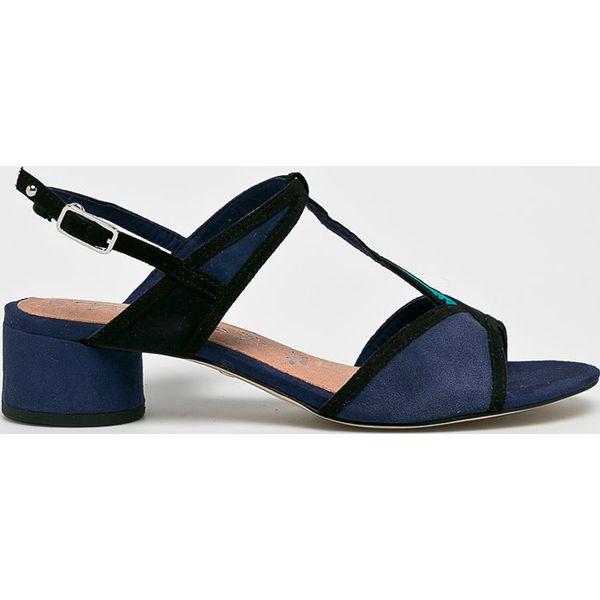 ce354eeffd71bc Tamaris - Sandały - Czerwone sandały damskie Tamaris, bez wzorów, z ...