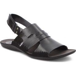 Sandały NIK - 06-0347-01-7-01-03 Czarny. Czarne sandały męskie Nik, ze skóry. W wyprzedaży za 159.00 zł.