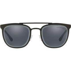 Emporio Armani - Okulary. Brązowe okulary przeciwsłoneczne męskie Emporio Armani, z materiału. Za 539.90 zł.