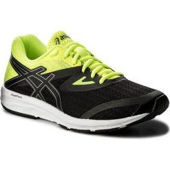 Buty ASICS - Amplica T825N Black/Silver/Safety Yellow 9093. Czarne buty sportowe męskie Asics, z materiału. W wyprzedaży za 199.00 zł.