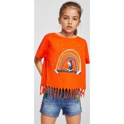 Mango Kids - Szorty dziecięce Lita 110-164 cm. Spodenki dla dziewczynek Mango Kids, z aplikacjami, z bawełny, casualowe. W wyprzedaży za 49.90 zł.