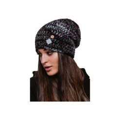 Czapka hauer KRAFF BLACK MELANGE hand made. Czarne czapki i kapelusze damskie Hauer, z dzianiny. Za 109.00 zł.