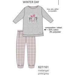 Piżama dziewczęca DR 781/93 Winter day Melanż szara r. 152. Szare bielizna dla chłopców Cornette, melanż. Za 60.60 zł.