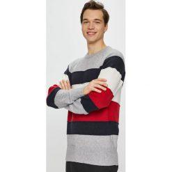 Tommy Hilfiger - Sweter. Szare swetry przez głowę męskie Tommy Hilfiger, z bawełny, z okrągłym kołnierzem. Za 499.90 zł.